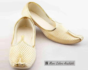 Men's Wedding Bridal Shoes For Men's Handmade Shoes Indian Men's Wear Indian Shoes Indian Mojari For Men Traditional Shoes Men