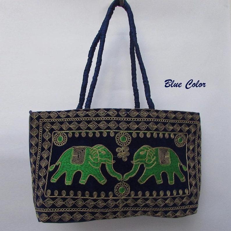 Hippie Boho Elephant Design Indian Embroidery Shoulder Bags