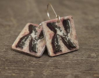 Hebrew Letter Alef earrings - Rustic jewelry - Industrial jewelry - Israeli jewelry - Hebrew alphabet - Hebrew letters - Alef