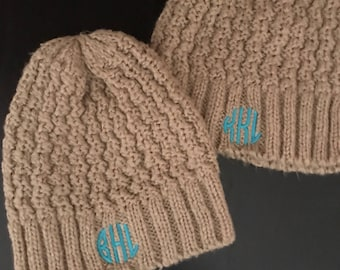 Monogrammed Hat  Winter Hat  Monogrammed Winter Hat  Knit Hat  Monogrammed  Knit Hat 27f42fcafe3a