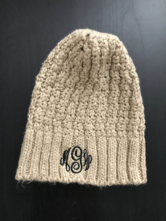 35607e38b441d Monogrammed Hat  Winter Hat  Monogrammed Winter Hat  Knit Hat