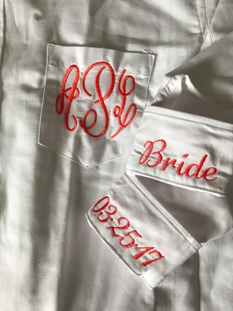 Bridal Party Shirts getting ready shirts wedding day shirts for bridal party