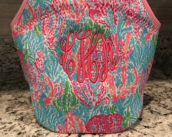 Lunch Bag/ Insulated Lunch Bag/Bottle Bag/ Lily Inspired Lunch Bag