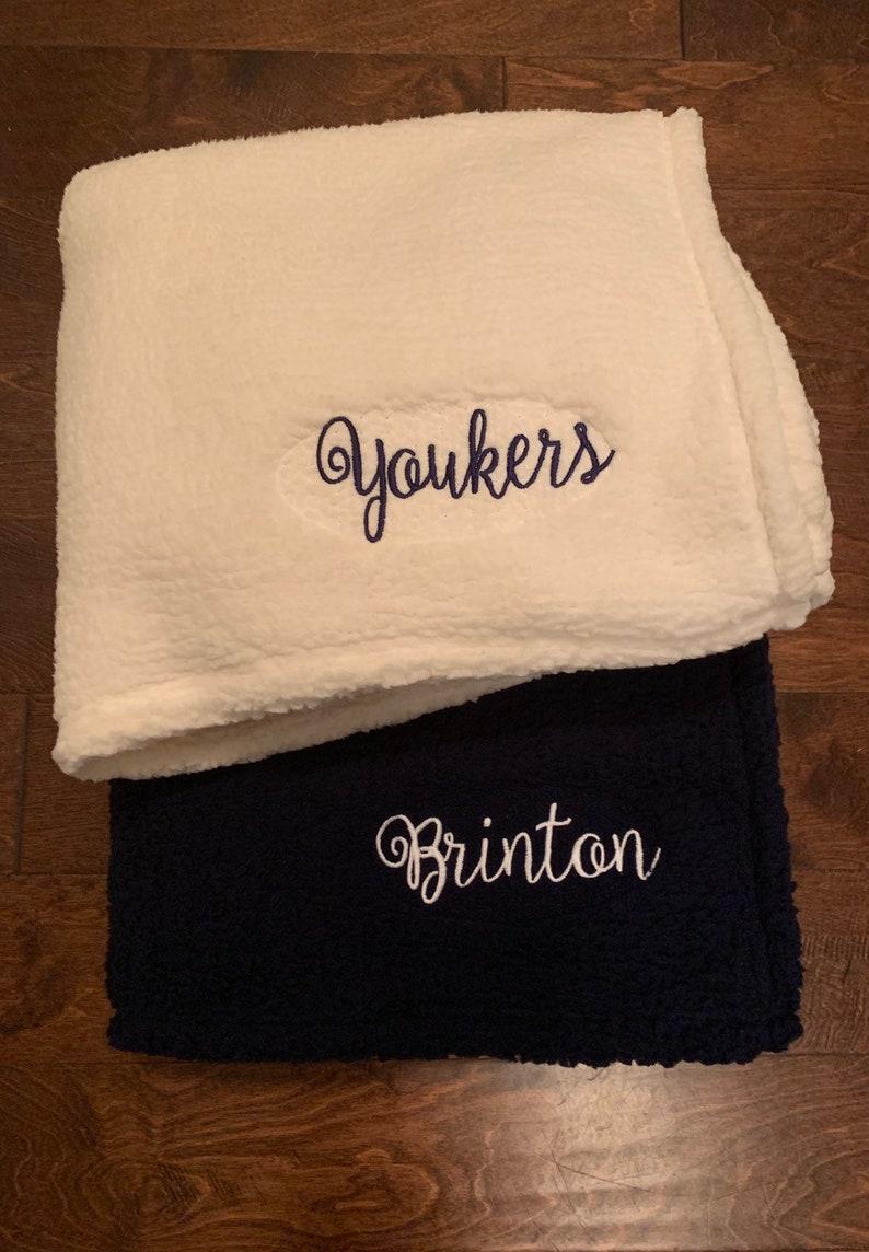 Sherpa Blanket Monogrammed Blanket Personalized Blanket Monogram Throw Blanket