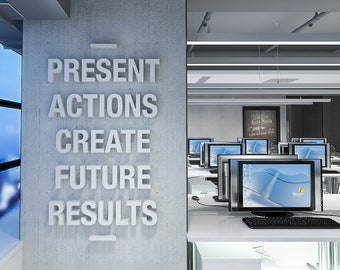 Create Results, Office Wall Art, 3D, Wall Art, Office Decor, Office, Quote,  Office Art, Quotes, Wall Decor, Inspirational Quotes   SKU:PACR