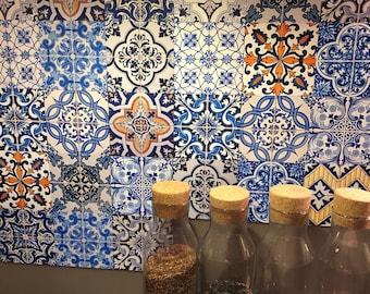 Portoghese piastrelle Azulejo V2 48 adesivi per   Etsy