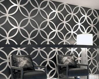 3d wall art panels large stars 3d wall panels geometric art paneling decorative tiles skuppce3dp flowers panele etsy