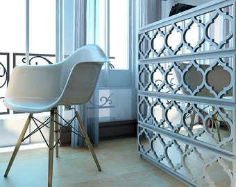 Fretwork - Trellis - Overlays - Furniture Appliques - Malm, Hemnes or Custom - Mirror - Lattice - Refurbish - SKU:TrellisMI