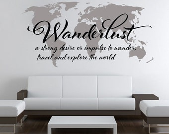 7 x 4 ft world map decal large world map vinyl wall etsy wanderlust world map decal large world map vinyl wall sticker world map wall sticker skuwlust gumiabroncs Choice Image
