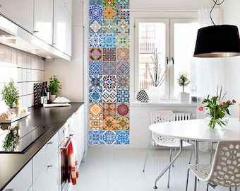 Tile Decals Wallpapers And Wall Decals By HomeArtStickers On Etsy - 2f carrelage