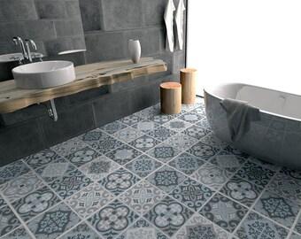 Badkamer Tegel Stickers : Vloertegels tegels floor vinyl tegel stickers badkamer etsy