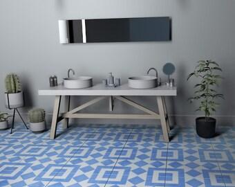 Vinilo azulejos talavera estilo cl sico pegatinas azulejos for Baldosas de vinilo autoadhesivas