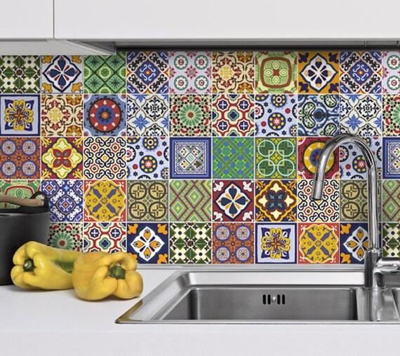 Talavera azulejos adhesivos azulejos mexicanos pegatinas - Pegatinas para azulejos ...