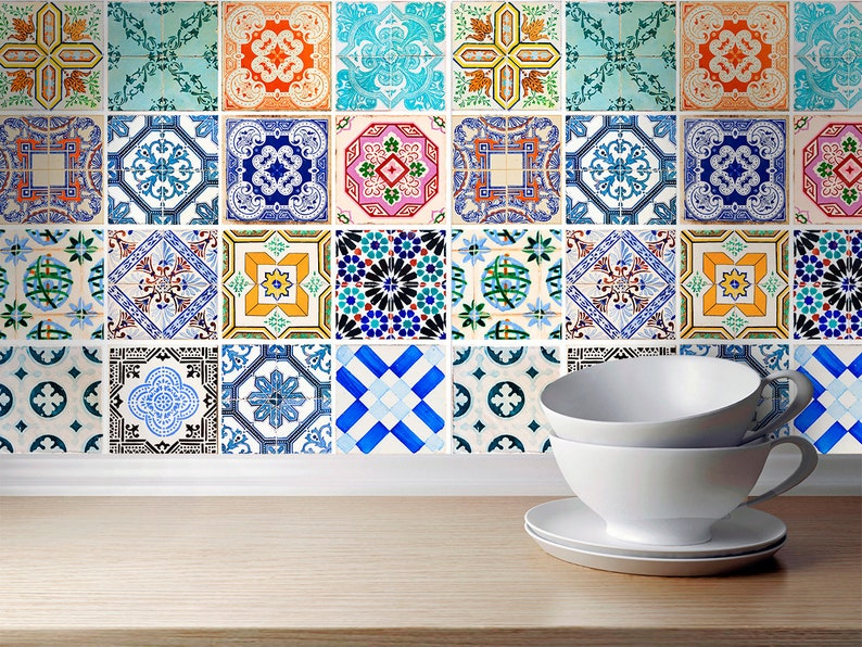 Adesivi spagnolo tradizionali piastrelle adesivi di parete etsy