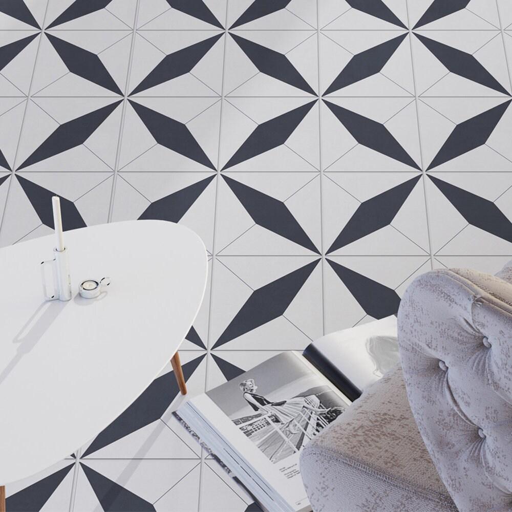 22 Designs With Amazing Morrocan Tile: Moroccan Floor Tile Stickers Carrelage Adhésif Vinyl