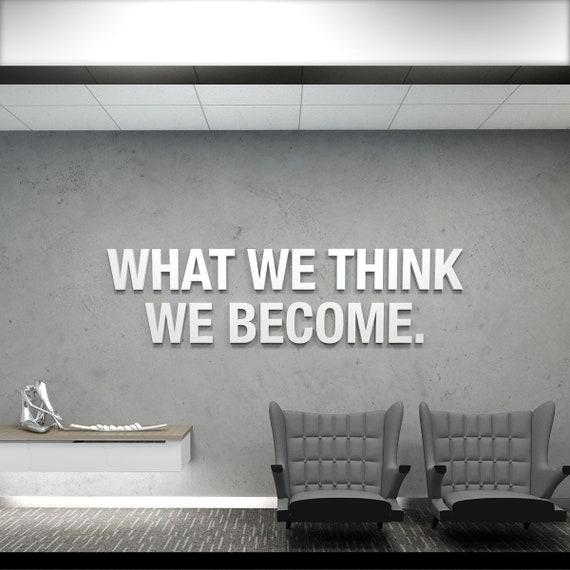 Think Big 3d Office Buro Dekoration Dekoration Wall Art Etsy