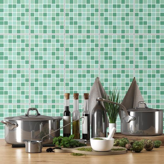 Mosaic Wall Art Mosaic Tiles Tile Decal Fliesenaufkleber Etsy