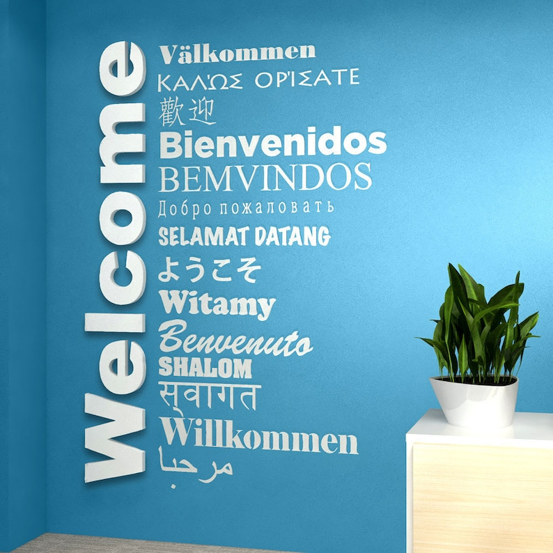 b5e36e099 Welcome Sign Multilanguage for Global Offices Receptions | Etsy
