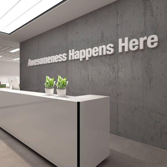 Awesome 3d Office Buro Dekoration Dekoration Wall Art Etsy