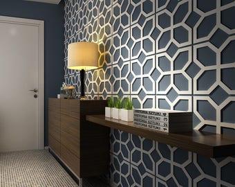 Flowers - 3D Wall Panels - 3D Panel - Wall Paneling - Decorative Wall Panels - Mid Century Modern - Wall Panels - Paneling - SKU:FLMI3DP