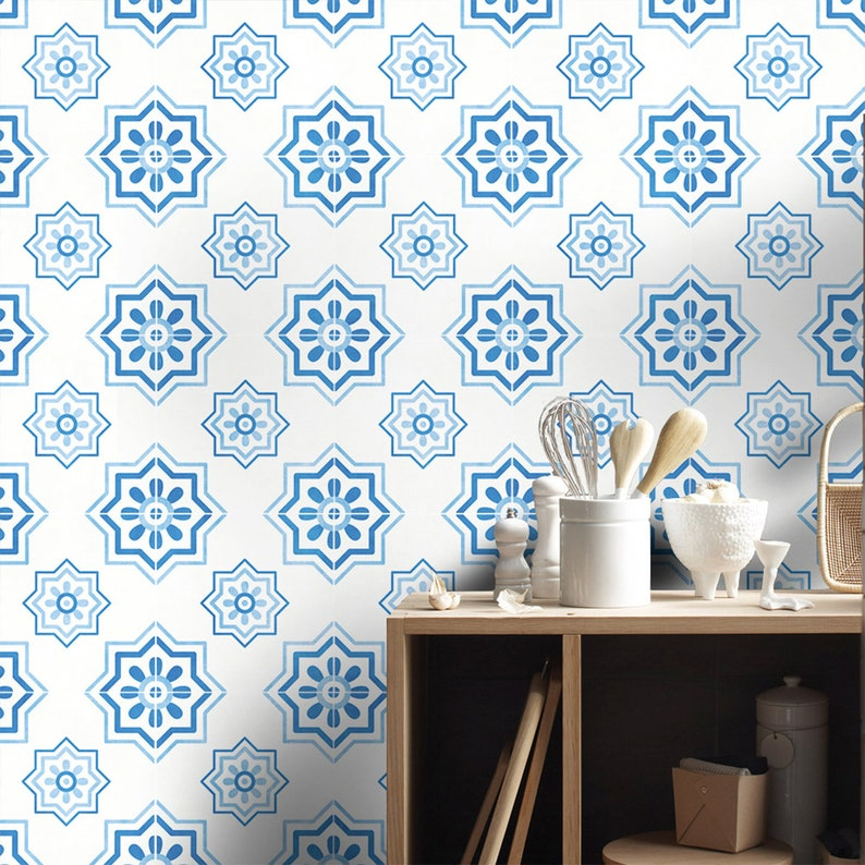 fe86138294a Málaga Tile Stickers Mediterranean Tile Stickers Tiles for