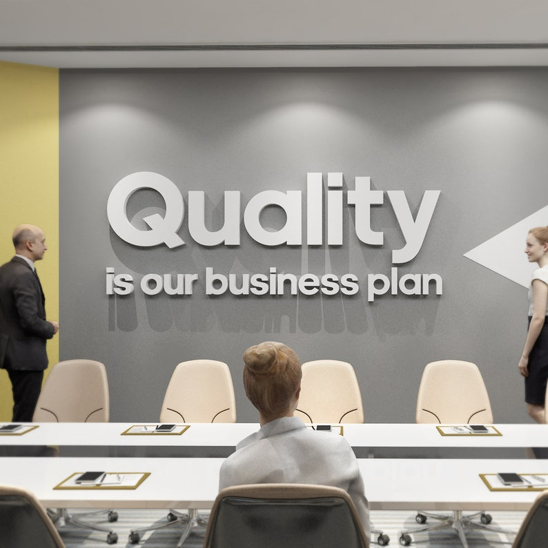 Quality Is Our Business Plan Motivational Wall Art Home Etsy