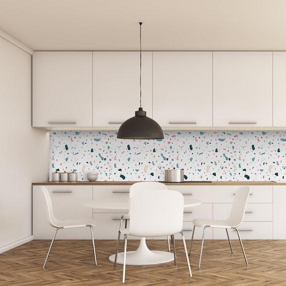 Terrazzo Adhesive Film Waterproof Kitchen Backsplash Sku Tafkb