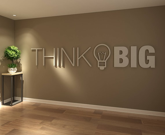 Think Big 3d Office Buro Dekoration Dekoration Wall Art Etsy