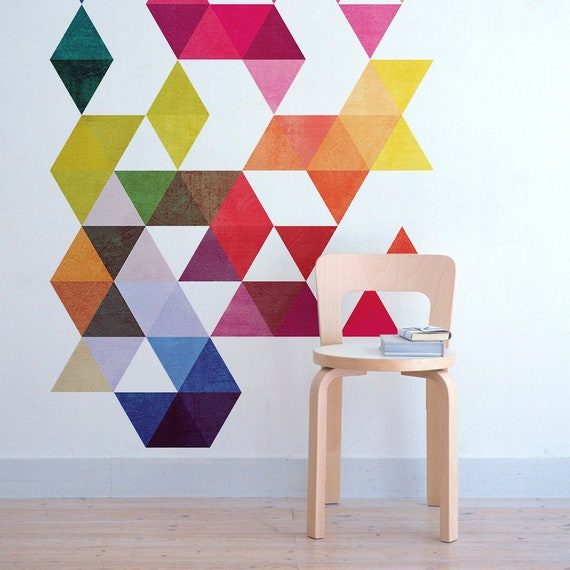 Cubes Cement Effect Mid Century Modern Danish Modernist Stickers Decals SKU:cucementsticker