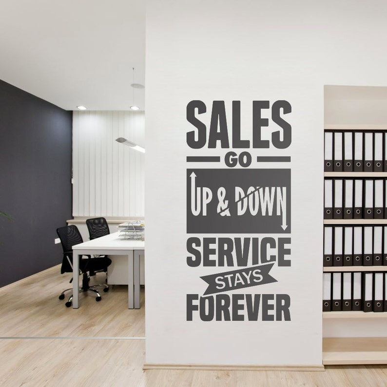 Service Stays Forever Business Quotes Office Wall Art Corporate Office Supplies Office Decor Office Sticker Sku Sgu