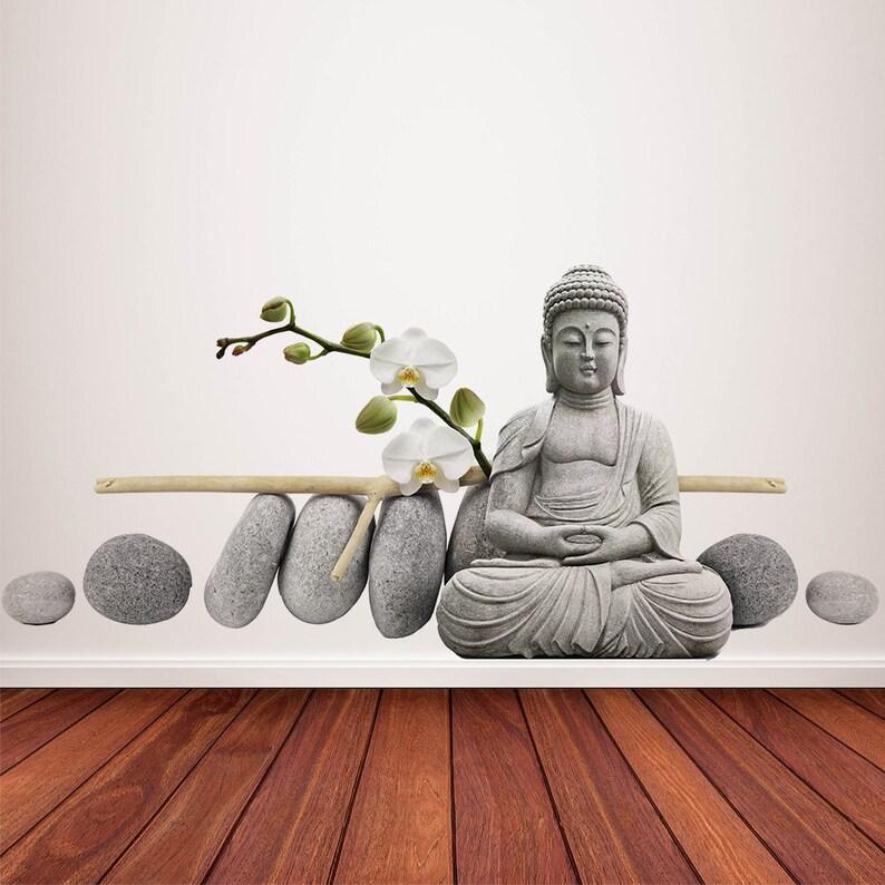 ba796e5fd Buddha Wall Decal Zen Decor Spa Decor Yoga Wall Decor | Etsy