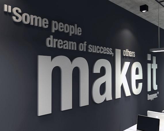 Make It Happen 3d Office Buro Dekoration Dekoration Wall Etsy