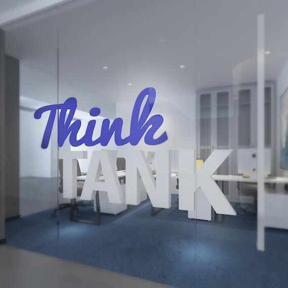 Think Tank Buroeinrichtung 3d Zitate Wand Dekor Buro Etsy