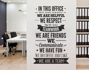 Office Decor Typography - Wall Art Sticker, In This Office for walls or furniture - Office Sticker  - Motivational Decals - SKU:THOFFSTK