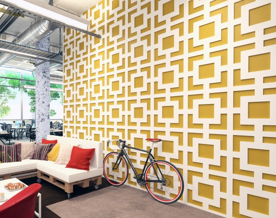Mid Century Modern Wall Paneling Panele 3D 3D Wall