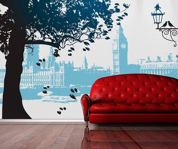 Carta o adesivo per pareti london t for Carta decorativa per pareti