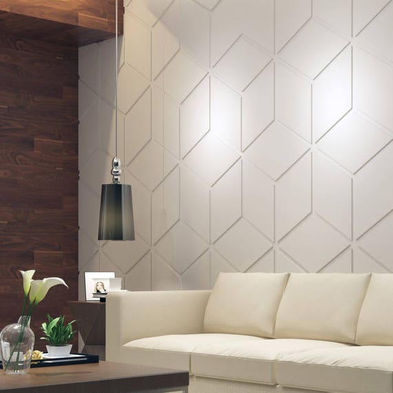 Bas Relief Cubes 3D Wall Panels Decorative Wall Panels   Etsy