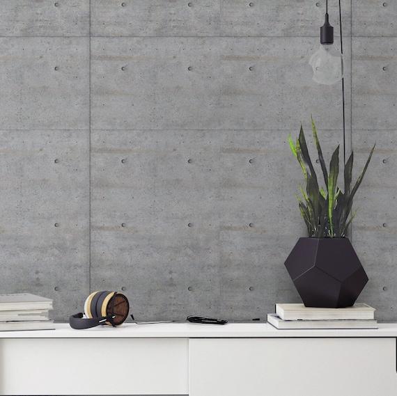 Concrete Wallpaper - Removable Wallpaper - Modern Style - Concrete Wall Decor - Peel and Stick - Fabric Wallpaper - Wallpaper - SKU:CONC