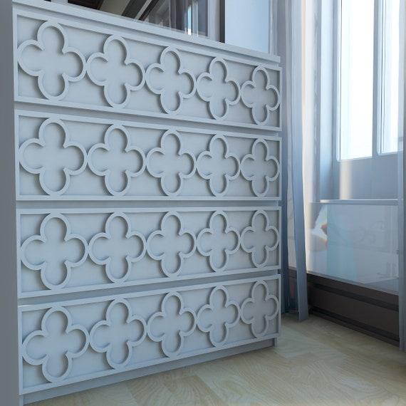 Flowers Fretwork Overlays Makeover Furniture Decor Malm Furniture Hardware Malm Kits Ornaments Sku Flow