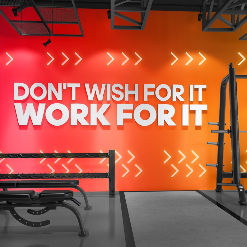 Work for it signs gym wall art wall hangings gym decor etsy