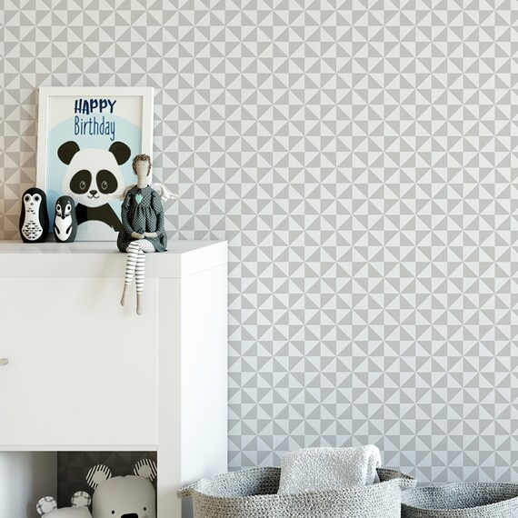 Modern Geometric Removable Wallpaper Sophisticated Peel And Etsy