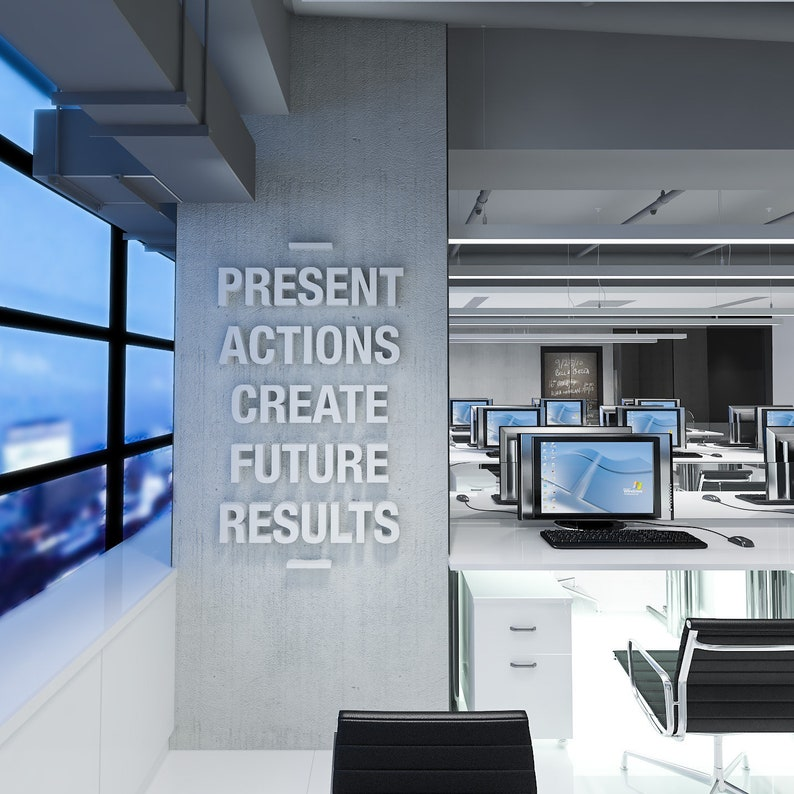 Create Results Office Wall Art 3d Wall Art Office Decor Office Quote Office Art Quotes Wall Decor Inspirational Quotes Sku Pacr
