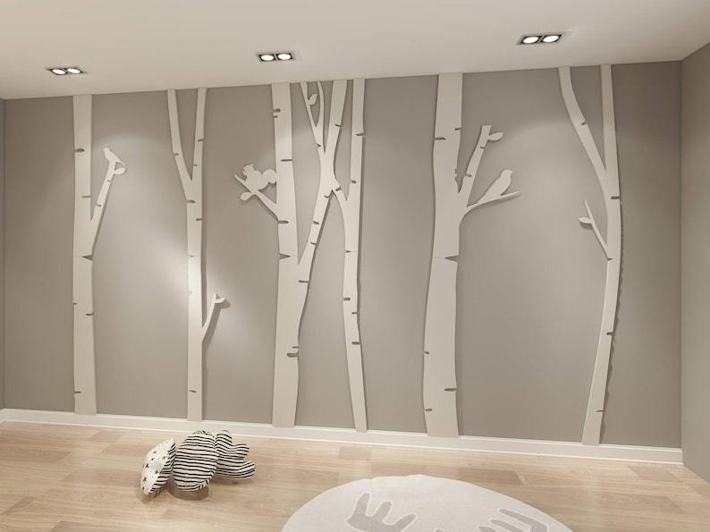 Birch Tree - 3D - Birch Tree Art - Birch Tree Wall Art - Birch Tree Decor -  Birch Tree Branches - Tree Wall Art - Birch Tree - SKU:BTR3D