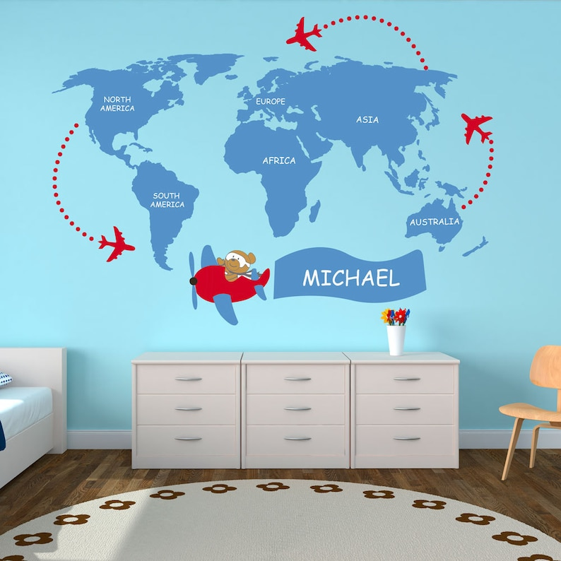 Nursery World Map - Kids - World Map Decal - World Map Wall Art - World on world map wall set, world map of the wall, india wall sticker, world vinyl art decals, world wall decal, world map wall graphics, world map on wall, world wall sculpture, calendar wall sticker, world maps for your wall, world map wall vinyl, world map removable sticker, world map wall paint, world watch urban outfitters, compass wall sticker, world map wall canvas, world map wall covering, world map wall decoration, paris eiffel tower wall sticker, world map wall mural,