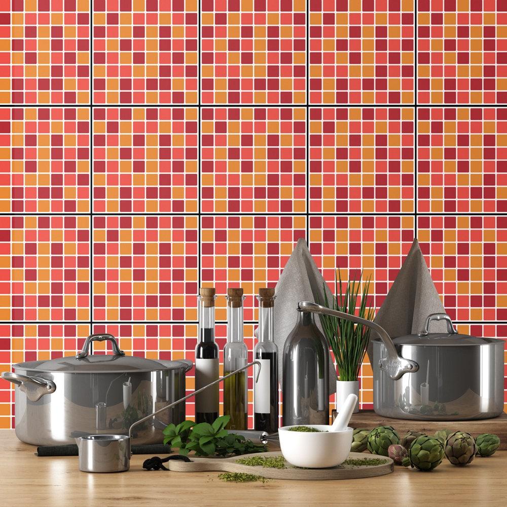 Küchenspritzschutz Terrakotta-Mosaik Wandfliesen