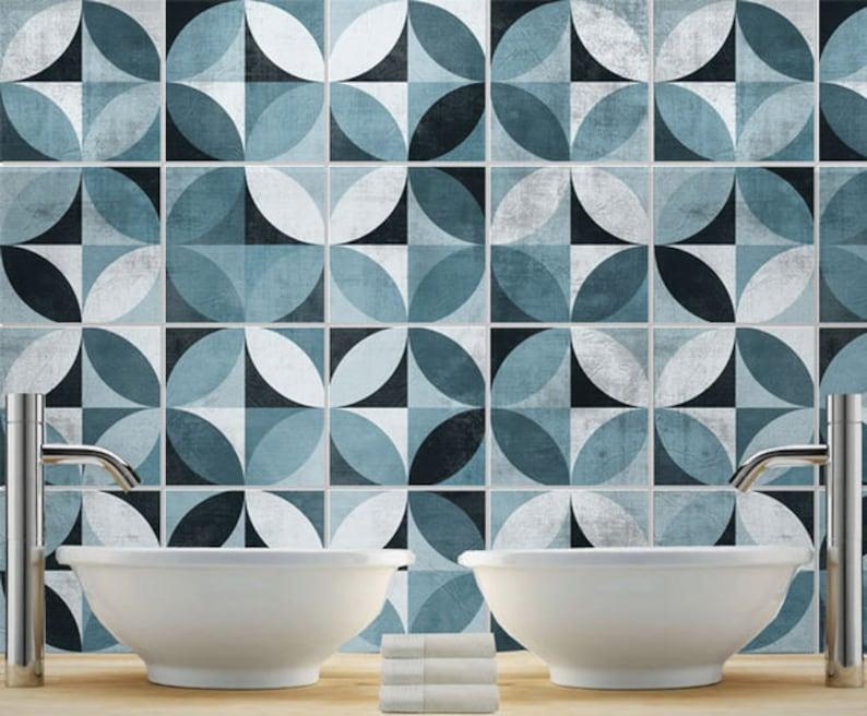 Adesivi per piastrelle mid century modern tradicional etsy
