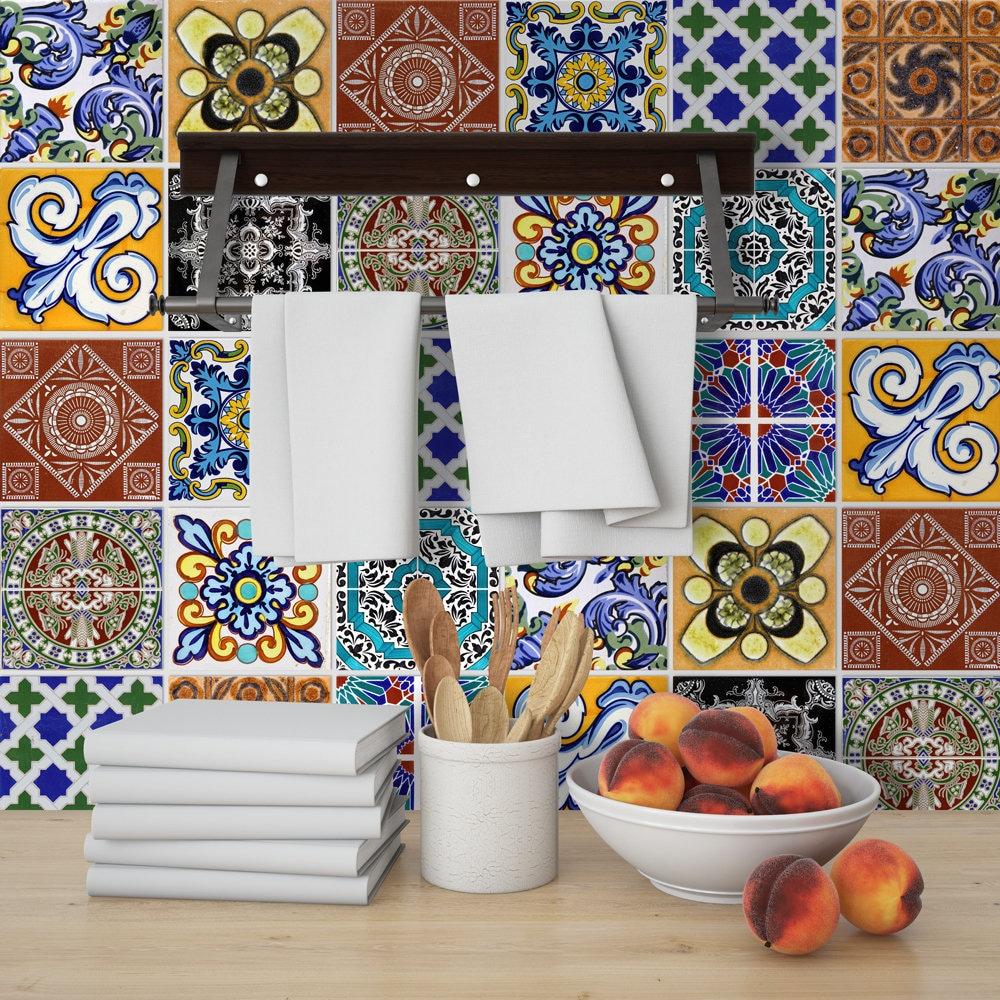 Fliesenaufkleber Talavera Küche Backsplash Fliesen Decals | Etsy