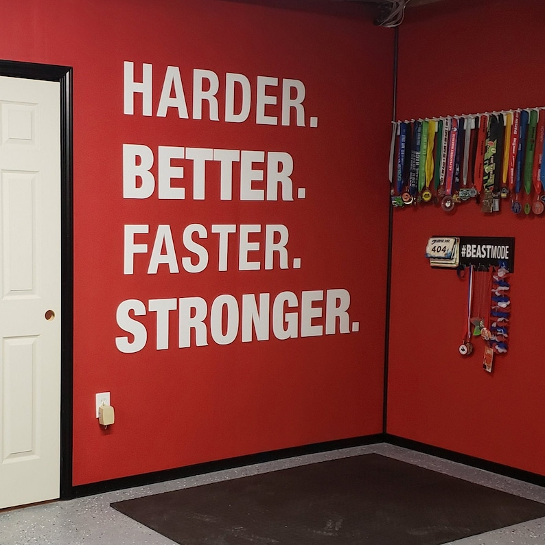 Gym Gym Decor Harder Better Faster Stronger Gym image 0