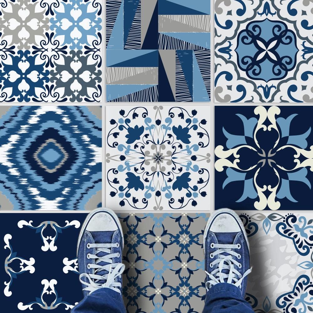 Blaue Fliesenaufkleber Fliesenaufkleber Fliesen für Küche