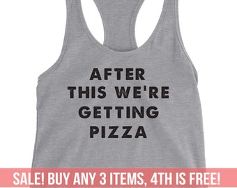 207ea5293a867 Funny Pizza Tank Top Tee Racerback Women Ladies Men Funny Christmas Gift  Birthday Gift Yoga Top Hungry Food Shirt Bridesmaid Tank Wedding